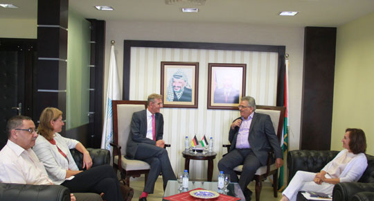 Head of the Water Authority meets with the Director of German Cooperation