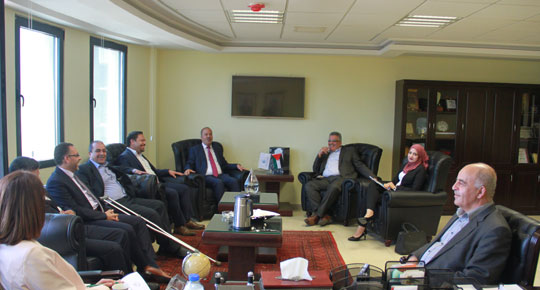 Head of the Water Authority meets with the Union of the real estate sector developers