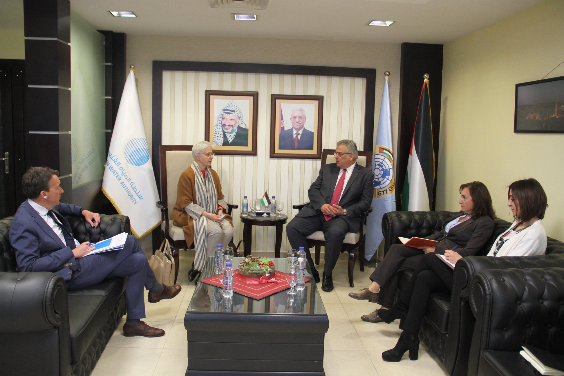 Discuss support of the Central Desalination Plant project ... Minister Ghuneim briefed the Belgian consul on the needs of the water sector