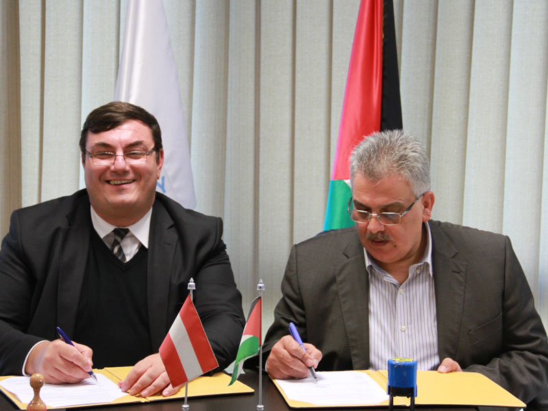 Water Authority and the Austrian Agency signed the agreement of  Rehabilitation of Deir El Balah Station